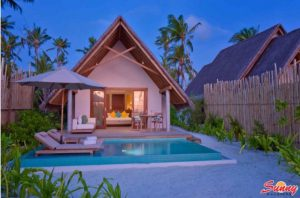 Pool Beach Villa Sunset – Fushifaru Maldives