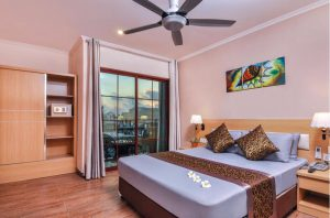 Deluxe Double with Island View – Trtiton Beach Hotel, Maafushi